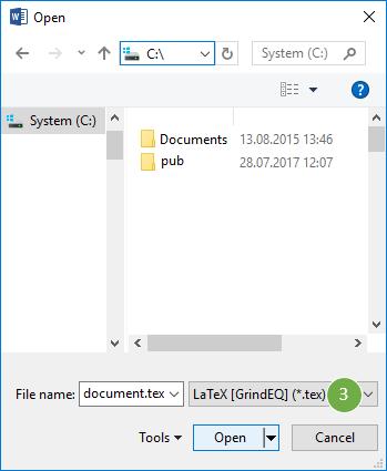 Converting Microsoft Word to LaTeX, LaTeX to Word, MathType